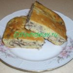 заливной пирог с сайрой