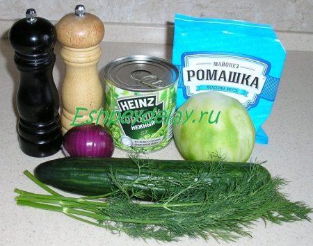 ингредиенты для салата из маргеланской редьки
