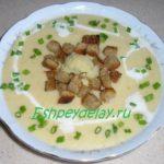 Суп-пюре из цветной капусты со сливками