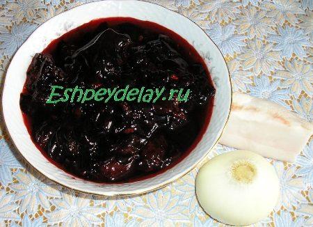 ингредиенты для рецепта жареная кровь