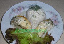 судак с белым вином и сметаной