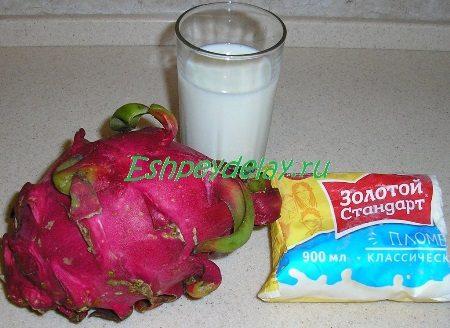 Рецепт молочного коктейля из питахайи