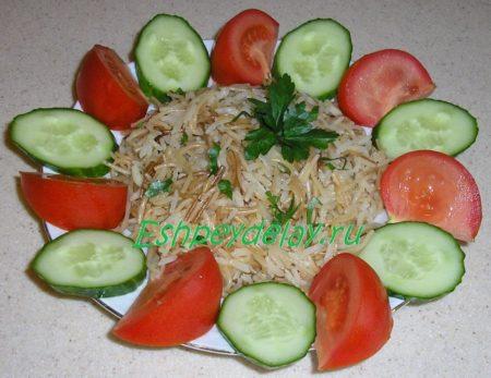 Плов из риса с вермишелью