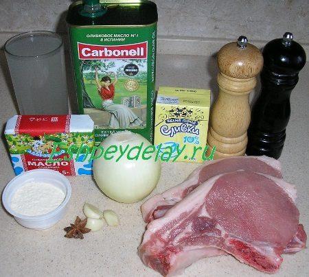 Рецепт приготовления свиных котлет на кости