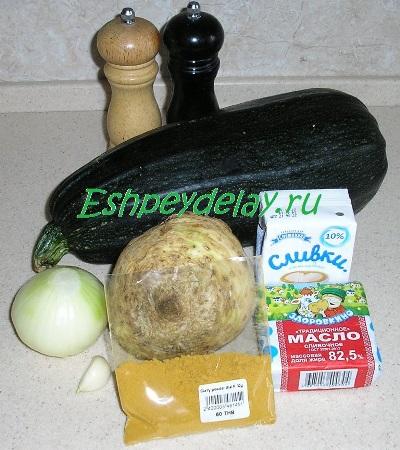 Рецепт супа-пюре из кабачка