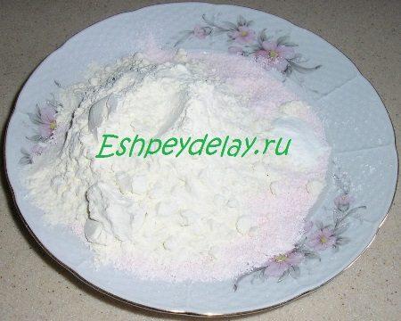Измельченный брикет киселя