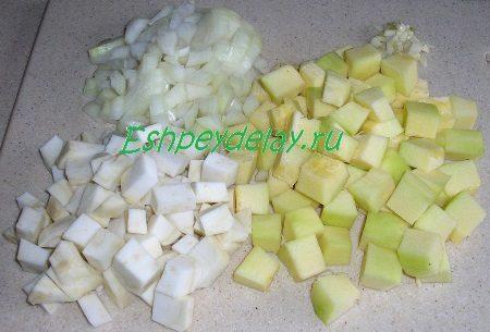 Как приготовить суп-пюре из кабачка и сельдерея