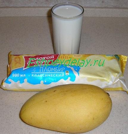 рецепт молочного коктейля с манго