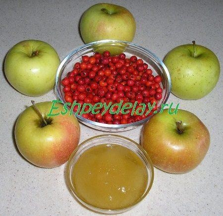 Рецепт яблок печеных с рябиной