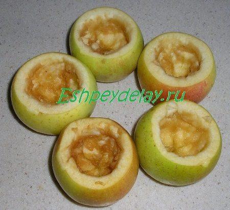 Яблоки с удалённой сердцевиной