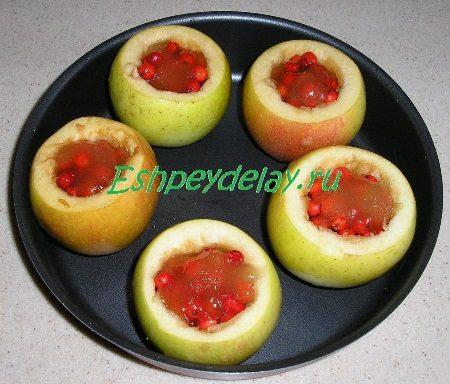 Яблоки с начинкой из рябины