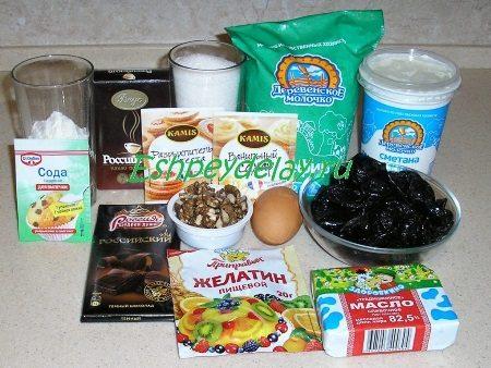 Рецепт муссового торта с черносливом