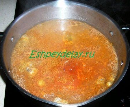 Добавленная в суп обжарка