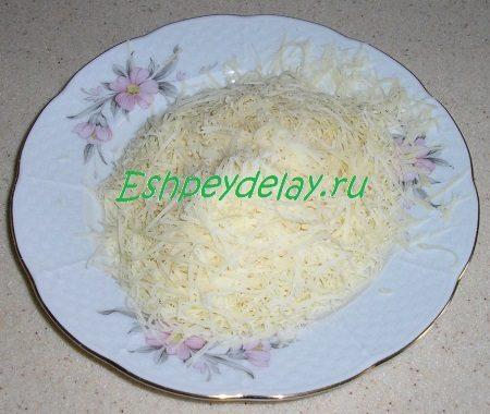 Потёртый на мелкой тёрке сыр