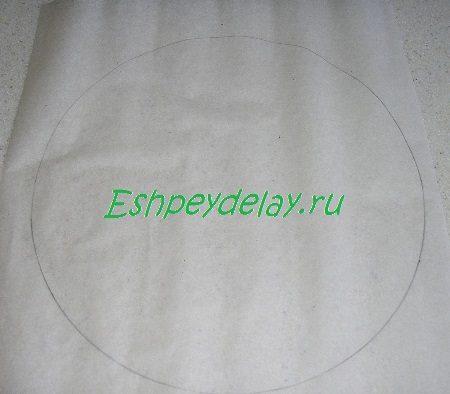 Нарисованный на пергаменте круг
