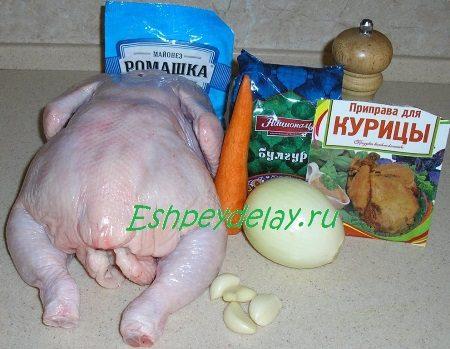 Рецепт курицы фаршированной булгуром
