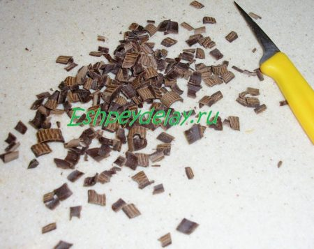 Мелко порезаный шоколад