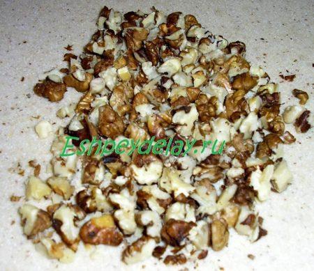 Мелко порезанные орехи