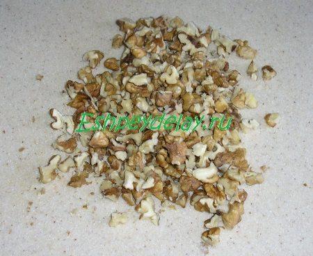 Порезанные орехи