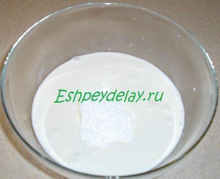 Сливки с сахарной пудрой