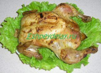 Курица фаршированная булгуром и овощами