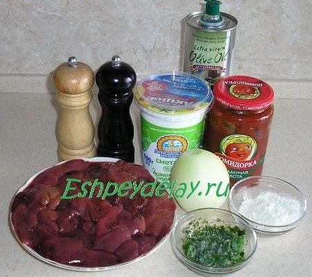 Рецепт бефстроганов из куриной печени
