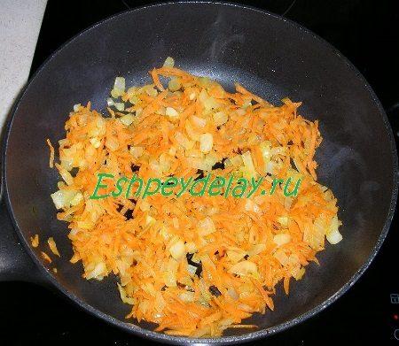 Поджарка из лука и моркови