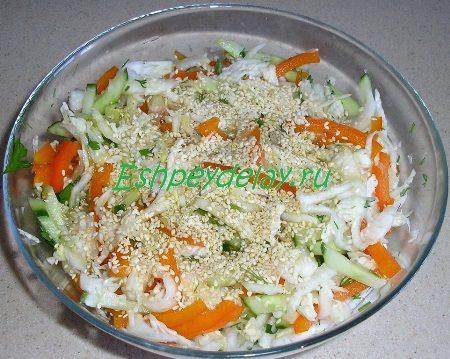 Кунжут с овощами