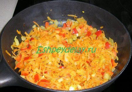 Перец обжаренный с овощами