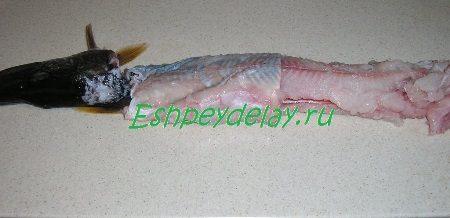 Снятие рыбной кожи