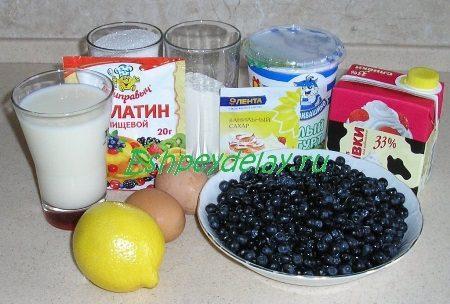 Рецепт черничного торта
