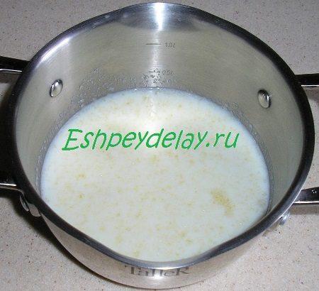 Замоченный в молоке желатин