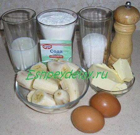 Рецепт маффины из банана