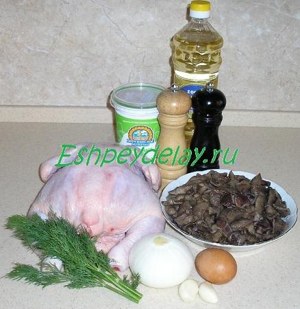 Рецепт рулета из курицы с грибами
