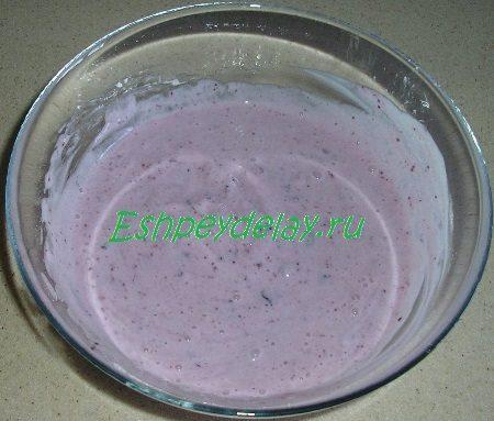 черника с йогуртом