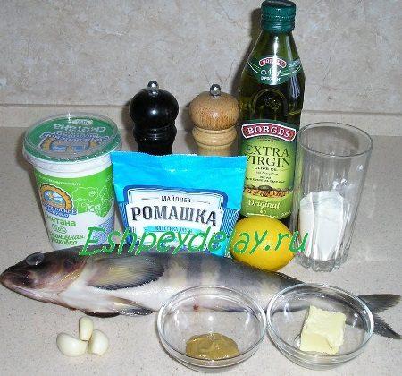 Рецепт терпуг в чесночно - сметанном соусе