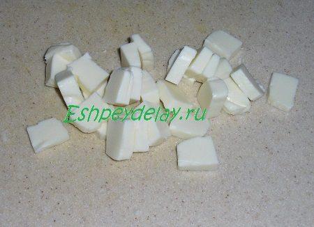 Порезанный плавленный сыр