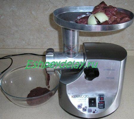 Мясорубка с печенью и луком
