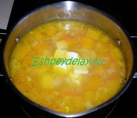 Сыр добавленный в суп