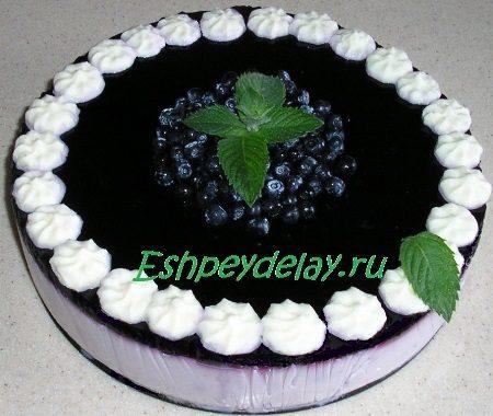 Торт из черники