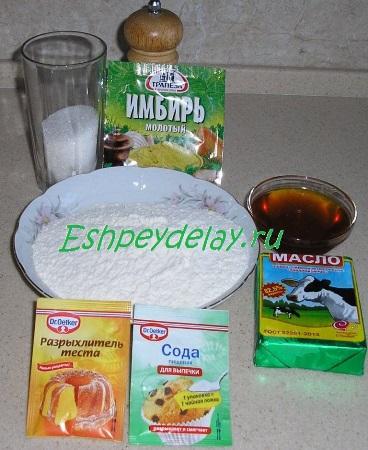 Рецепт медового печенья с имбирём