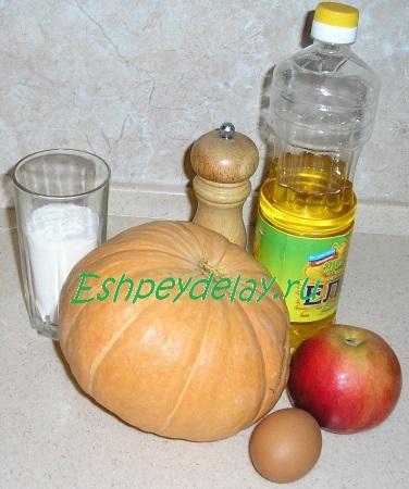 Рецепт оладий из тыквы с яблоком