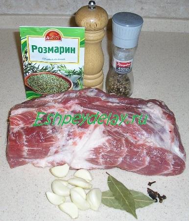 Рецепт буженины