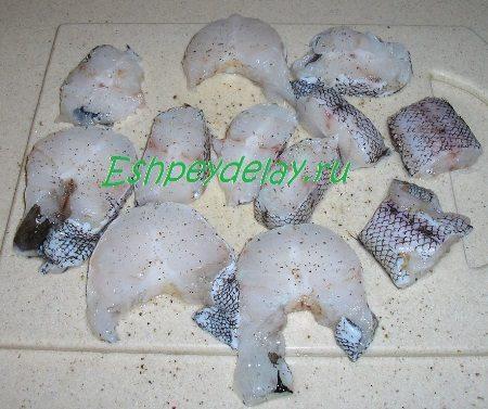 Рыба с солью и перцем