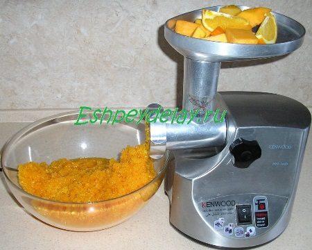 Перекрученные тыква с апельсином