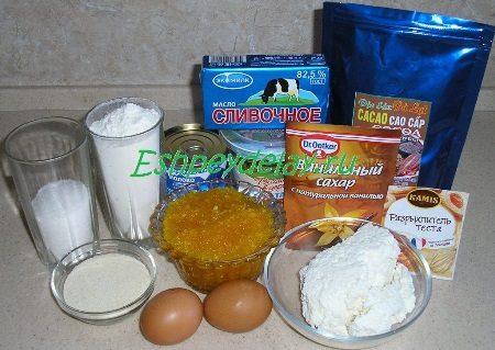 Рецепт песочного печенья с творожной начинкой