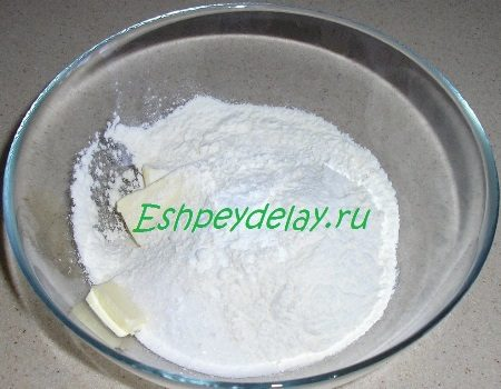 Мука с сахаром и маслом