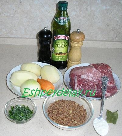 Рецепт супа из чечевицы