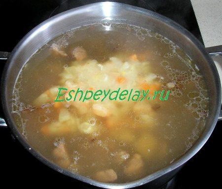 Зажарка в супу