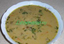 Сливочный суп из сухих грибов